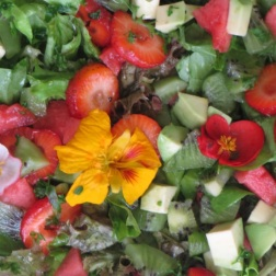 bomba witaminowa: zielona sałata ze szpinakiem i owocami