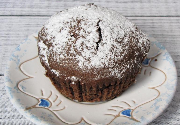 muffinka czekoladowo-kawowa z jabłkami 1