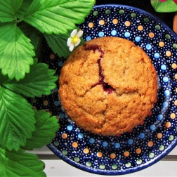 muffinka z malinami