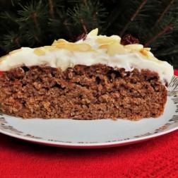 Ciasto świąteczne bez cukru, bez jajek