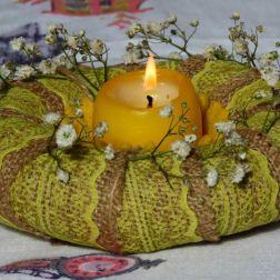 świecznik z wianka